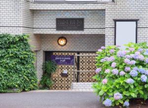 ポコアポコヨガスタジオ入口